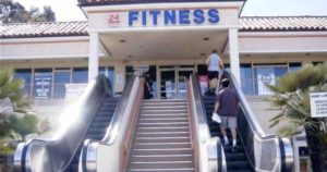 Gym escalator